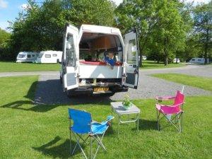 camping set up