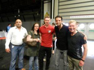The crew with Nick Sarnicola