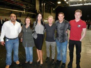 The crew with Rachel and Josh Jackson