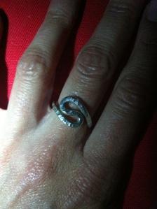 My  new ring, ill treasure it, thank you Eddie