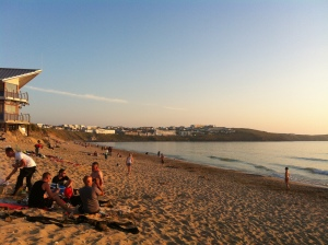 Fistral as sun beginning to set